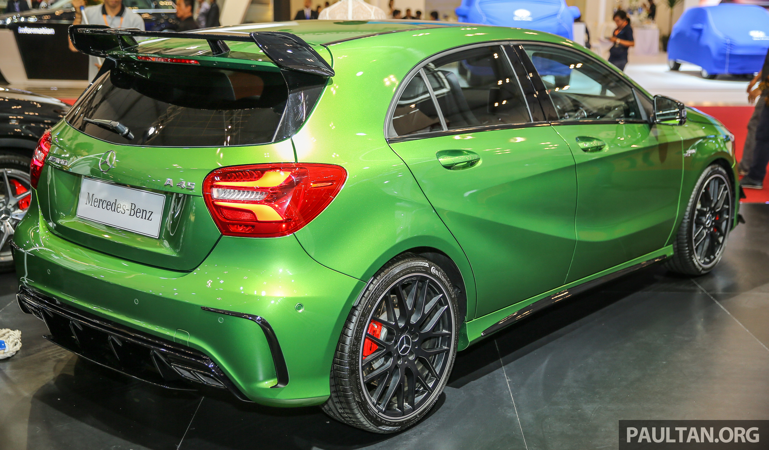 giias 2016 mercedes amg a45 in elbaite green. Black Bedroom Furniture Sets. Home Design Ideas