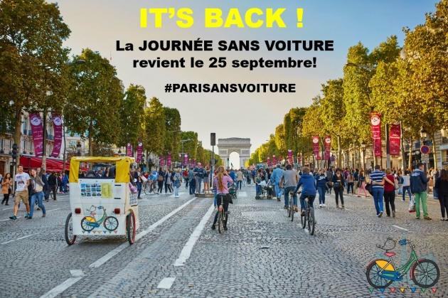 Paris Car Free Day Sept 25