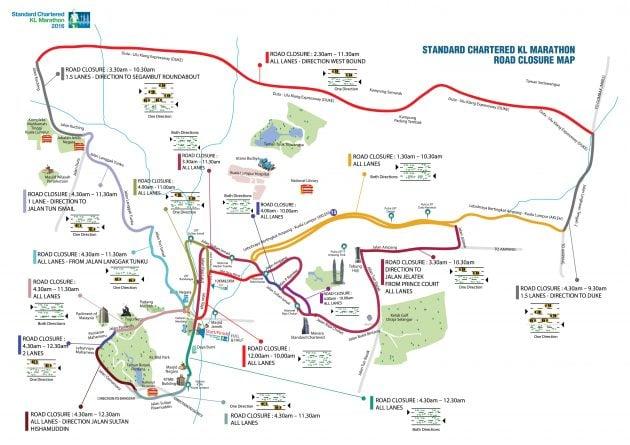 SCKL Road Closure Map