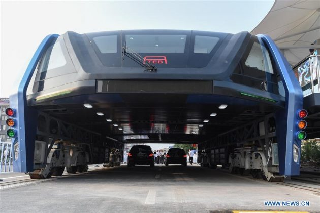 Transit Elevated Bus China 4