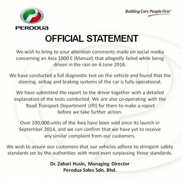 axia accident statement