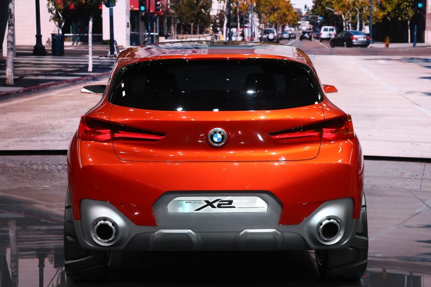 BMW Concept X2 unveiled in Paris – it's the 'X1 Coupe' Image #558284