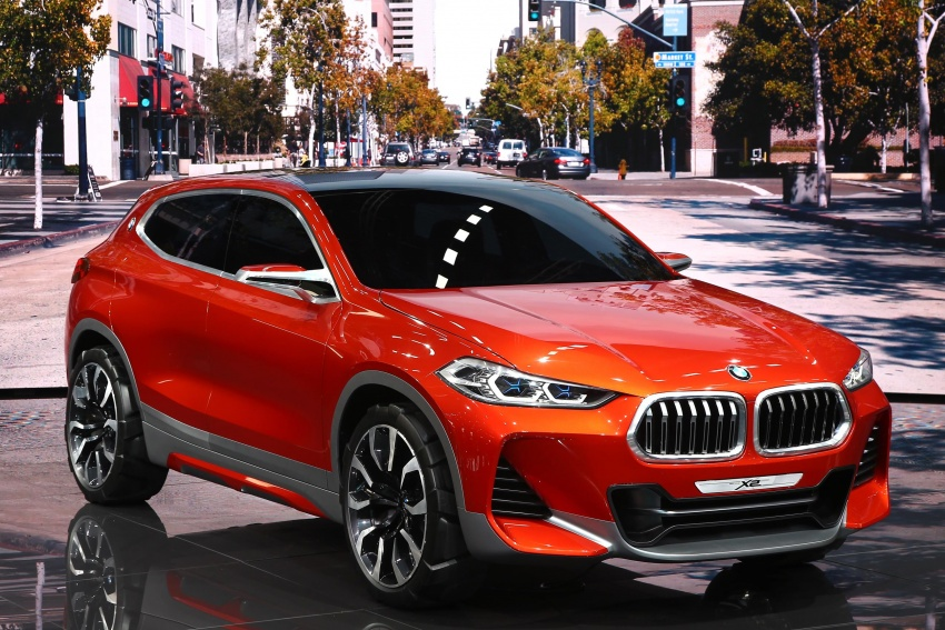 BMW Concept X2 unveiled in Paris – it's the 'X1 Coupe' Image #558280