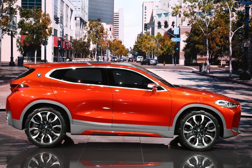 BMW Concept X2 unveiled in Paris – it's the 'X1 Coupe' Image #558278