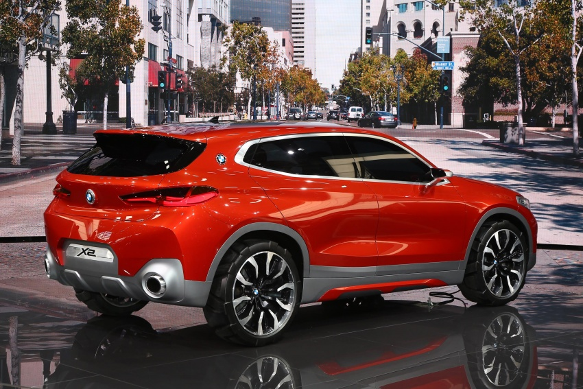 BMW Concept X2 unveiled in Paris – it's the 'X1 Coupe' Image #558277