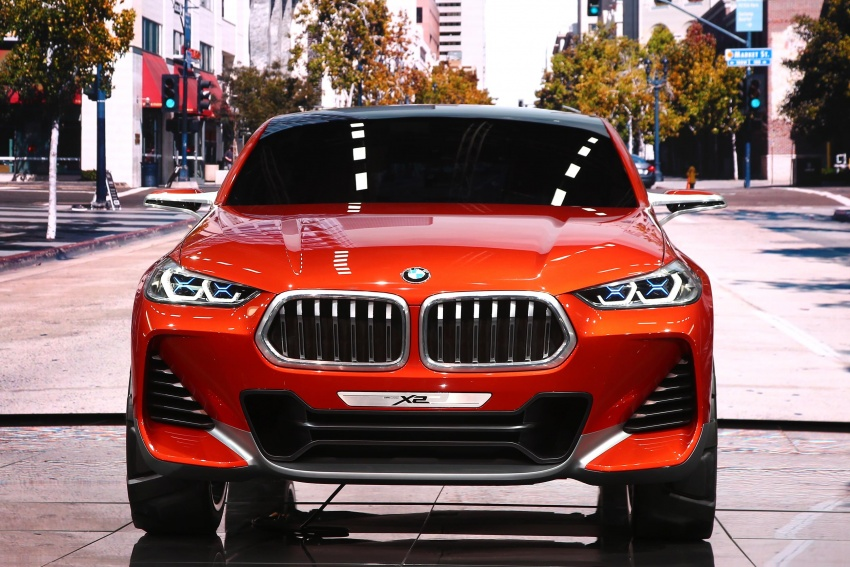 BMW Concept X2 unveiled in Paris – it's the 'X1 Coupe' Image #558272