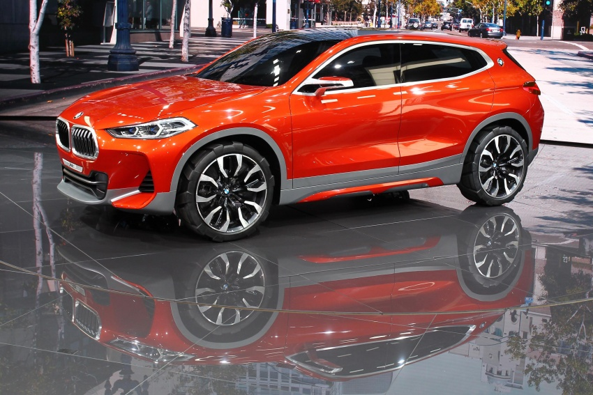 BMW Concept X2 unveiled in Paris – it's the 'X1 Coupe' Image #558270