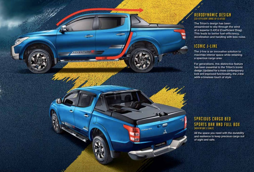 Mitsubishi Triton VGT dipertingkat dilancarkan- 2.4L MIVEC Turbodiesel, 181 PS/430 Nm, varian X baharu Image #544516