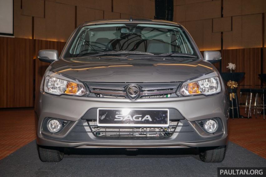 Proton Saga 2016 kini dilancarkan secara rasmi – 4 varian, 1.3L VVT, dari RM36,800 hingga RM45,800 Image #555413