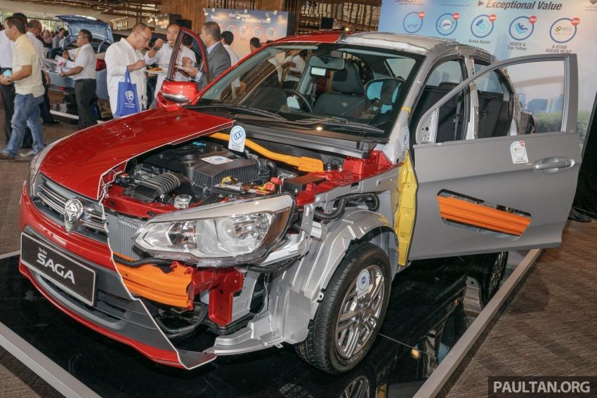 Proton Saga 2016 dengan penarafan 4-bintang dari ASEAN NCAP didedahkan keratan rentasnya Image #555330