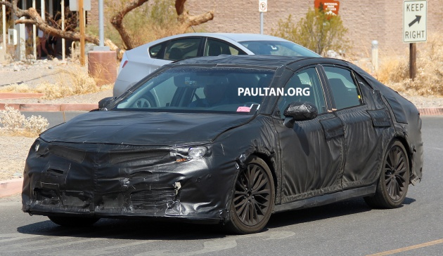 spyshots 2018 toyota camry in the death valley. Black Bedroom Furniture Sets. Home Design Ideas