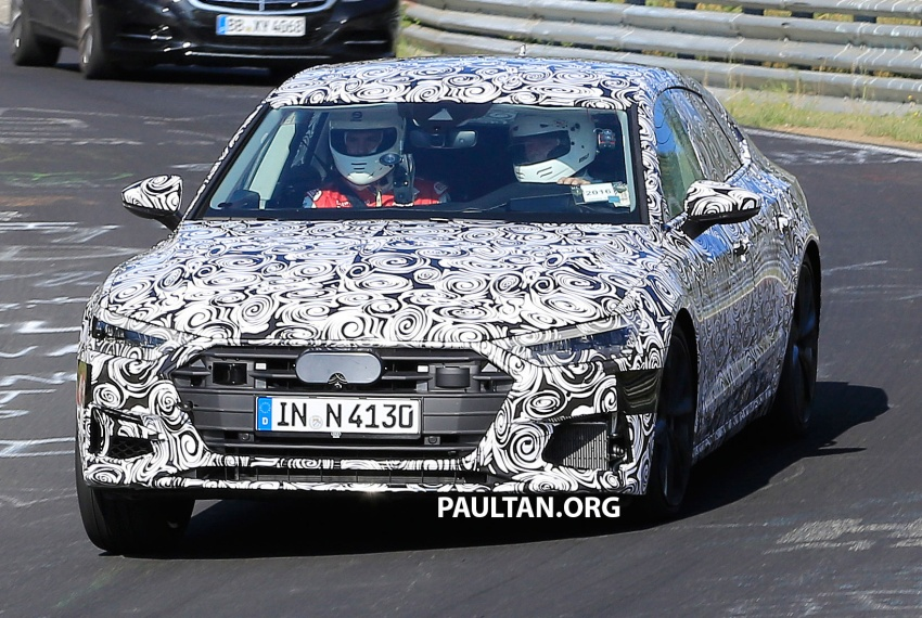 SPIED: Next Audi S7 Sportback seen testing at the Nürburgring – styling drawn from Prologue Concept Image #552078