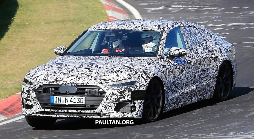 SPIED: Next Audi S7 Sportback seen testing at the Nürburgring – styling drawn from Prologue Concept Image #552079