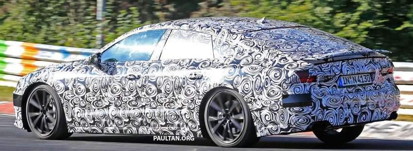 SPIED: Next Audi S7 Sportback seen testing at the Nürburgring – styling drawn from Prologue Concept Image #552083