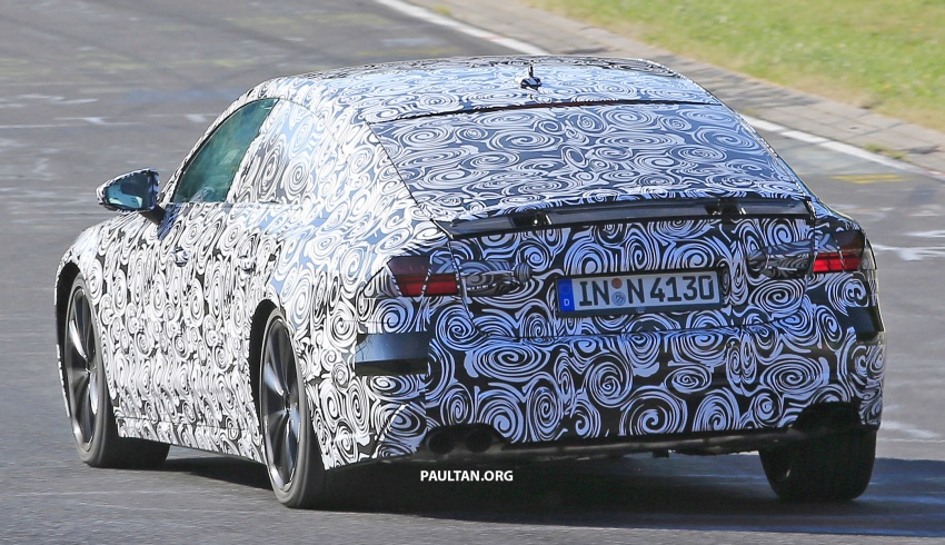 SPIED: Next Audi S7 Sportback seen testing at the Nürburgring – styling drawn from Prologue Concept Image #552086