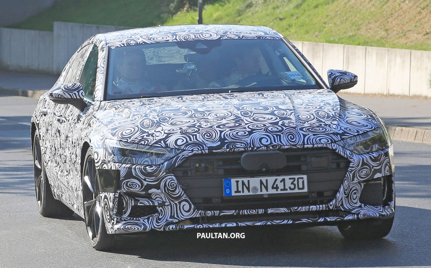 SPIED: Next Audi S7 Sportback seen testing at the Nürburgring – styling drawn from Prologue Concept Image #552069
