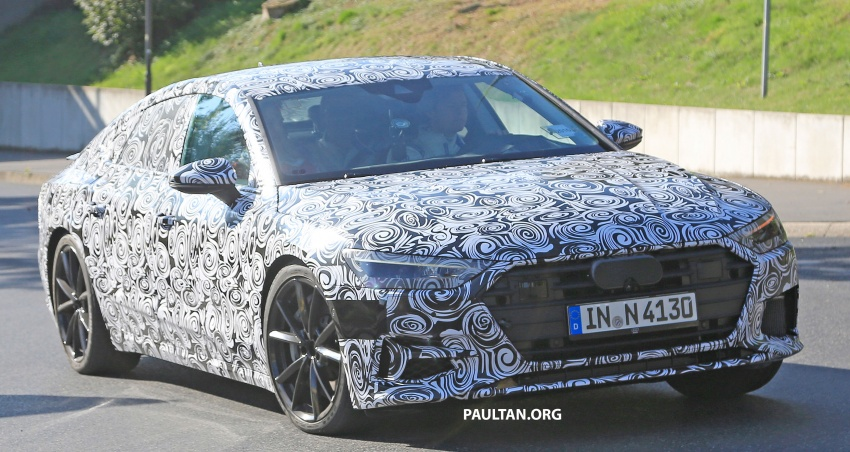 SPIED: Next Audi S7 Sportback seen testing at the Nürburgring – styling drawn from Prologue Concept Image #552070