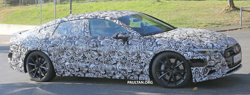 SPIED: Next Audi S7 Sportback seen testing at the Nürburgring – styling drawn from Prologue Concept Image #552071