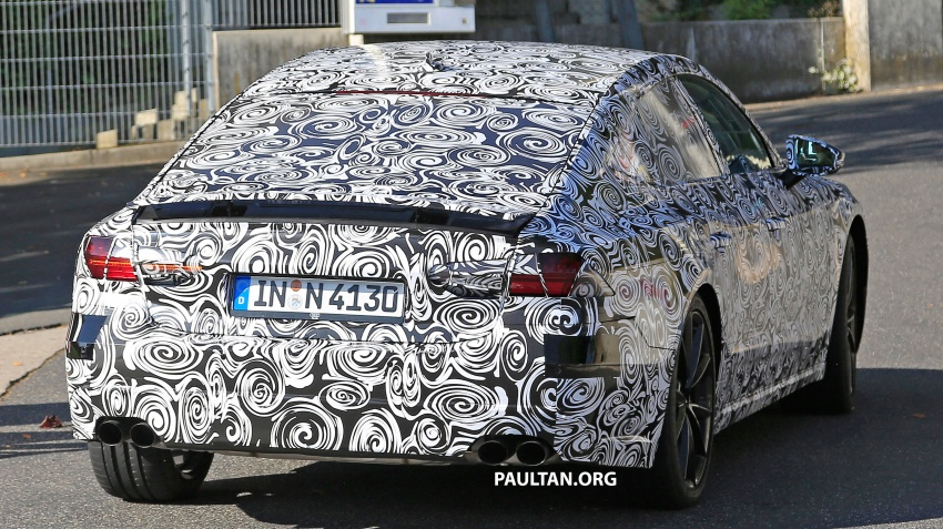 SPIED: Next Audi S7 Sportback seen testing at the Nürburgring – styling drawn from Prologue Concept Image #552075