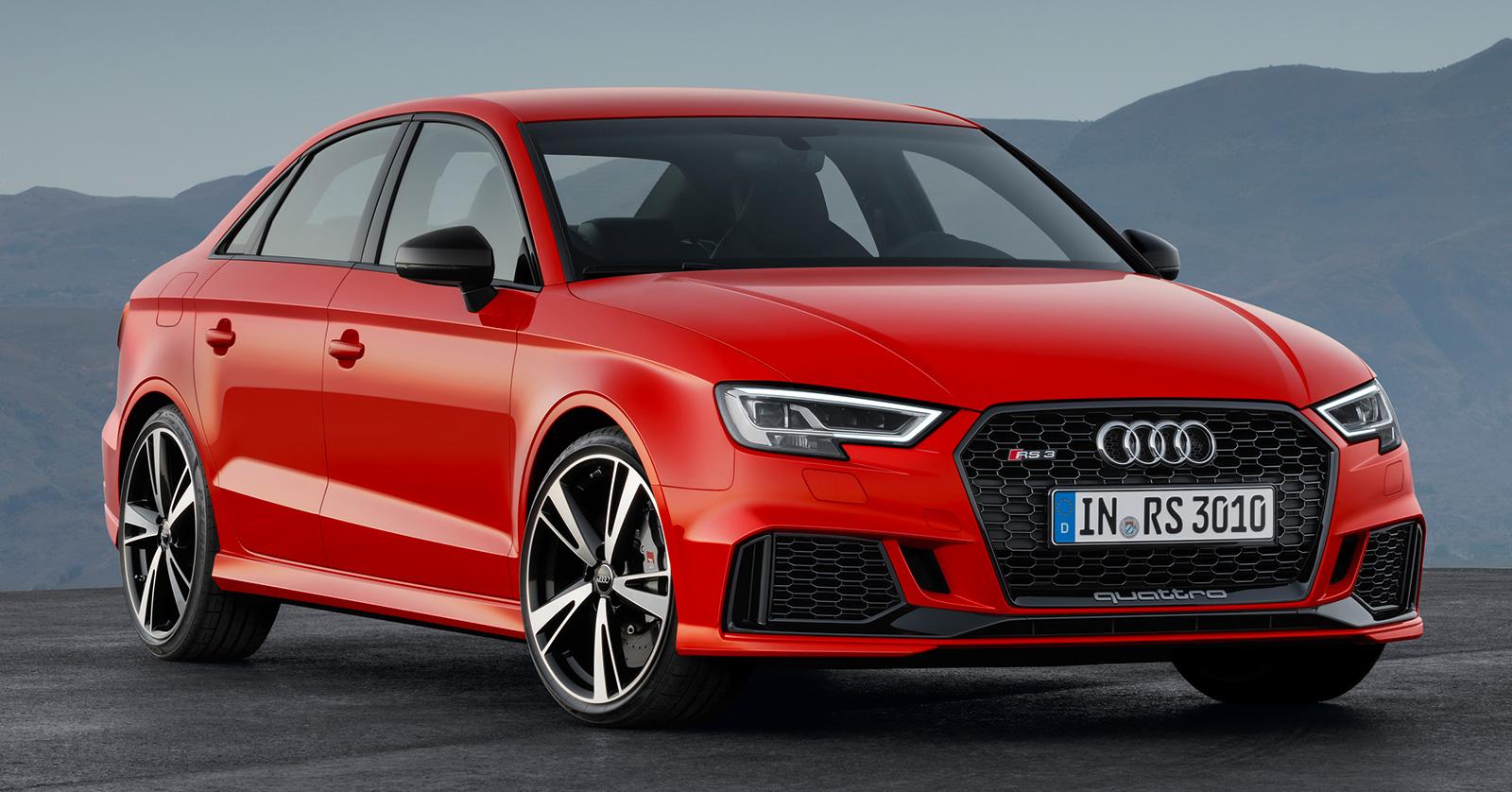 Audi RS3 Sedan – 400 hp 2.5 TFSI five-cylinder, 4.1 sec ...
