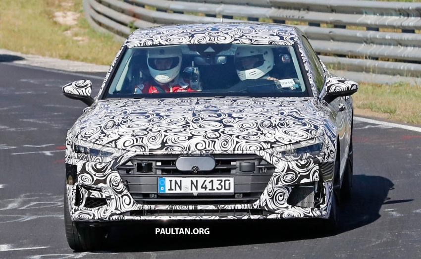SPIED: Next Audi S7 Sportback seen testing at the Nürburgring – styling drawn from Prologue Concept Image #552087