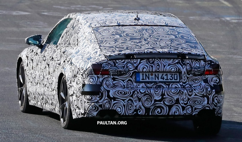 SPIED: Next Audi S7 Sportback seen testing at the Nürburgring – styling drawn from Prologue Concept Image #552099