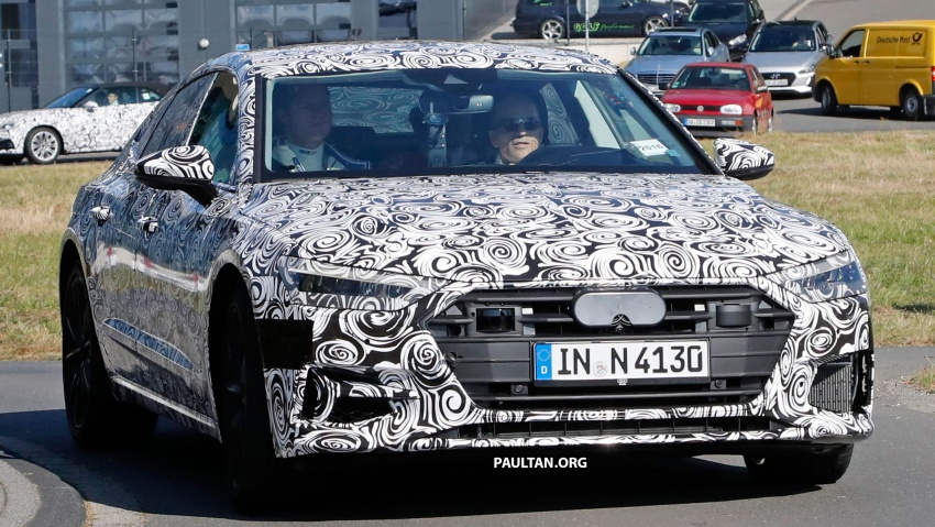 SPIED: Next Audi S7 Sportback seen testing at the Nürburgring – styling drawn from Prologue Concept Image #552101