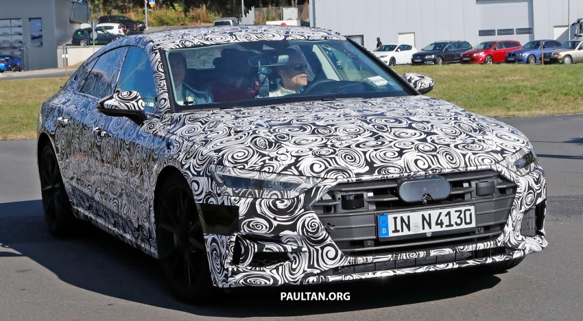 SPIED: Next Audi S7 Sportback seen testing at the Nürburgring – styling drawn from Prologue Concept Image #552102