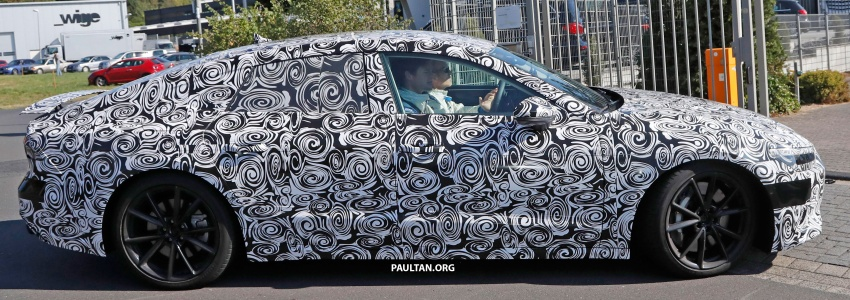 SPIED: Next Audi S7 Sportback seen testing at the Nürburgring – styling drawn from Prologue Concept Image #552105