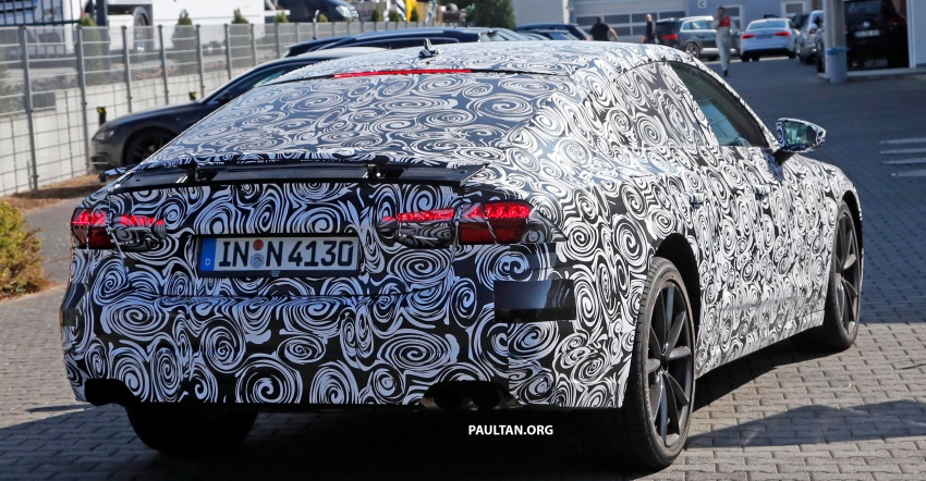 SPIED: Next Audi S7 Sportback seen testing at the Nürburgring – styling drawn from Prologue Concept Image #552108