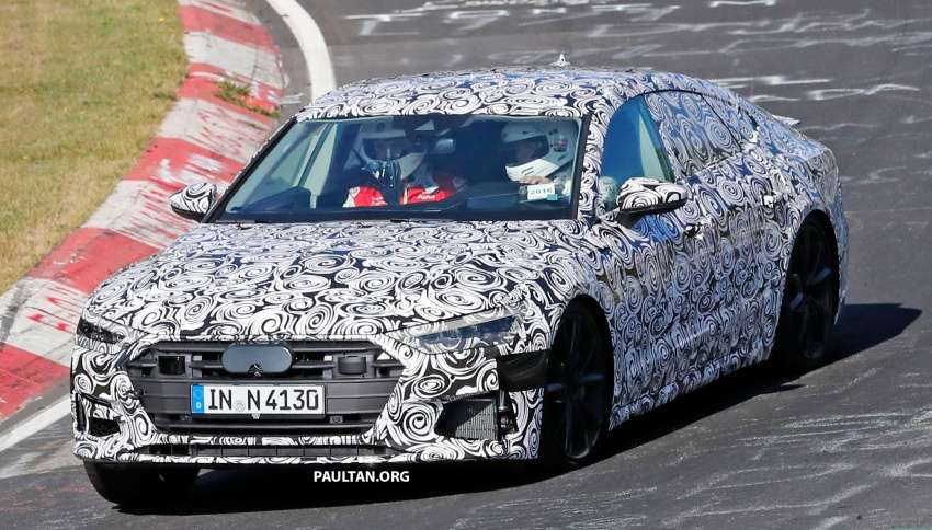 SPIED: Next Audi S7 Sportback seen testing at the Nürburgring – styling drawn from Prologue Concept Image #552090