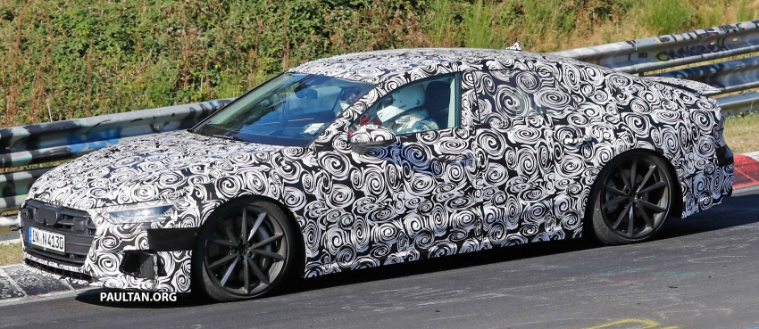 SPIED: Next Audi S7 Sportback seen testing at the Nürburgring – styling drawn from Prologue Concept Image #552092