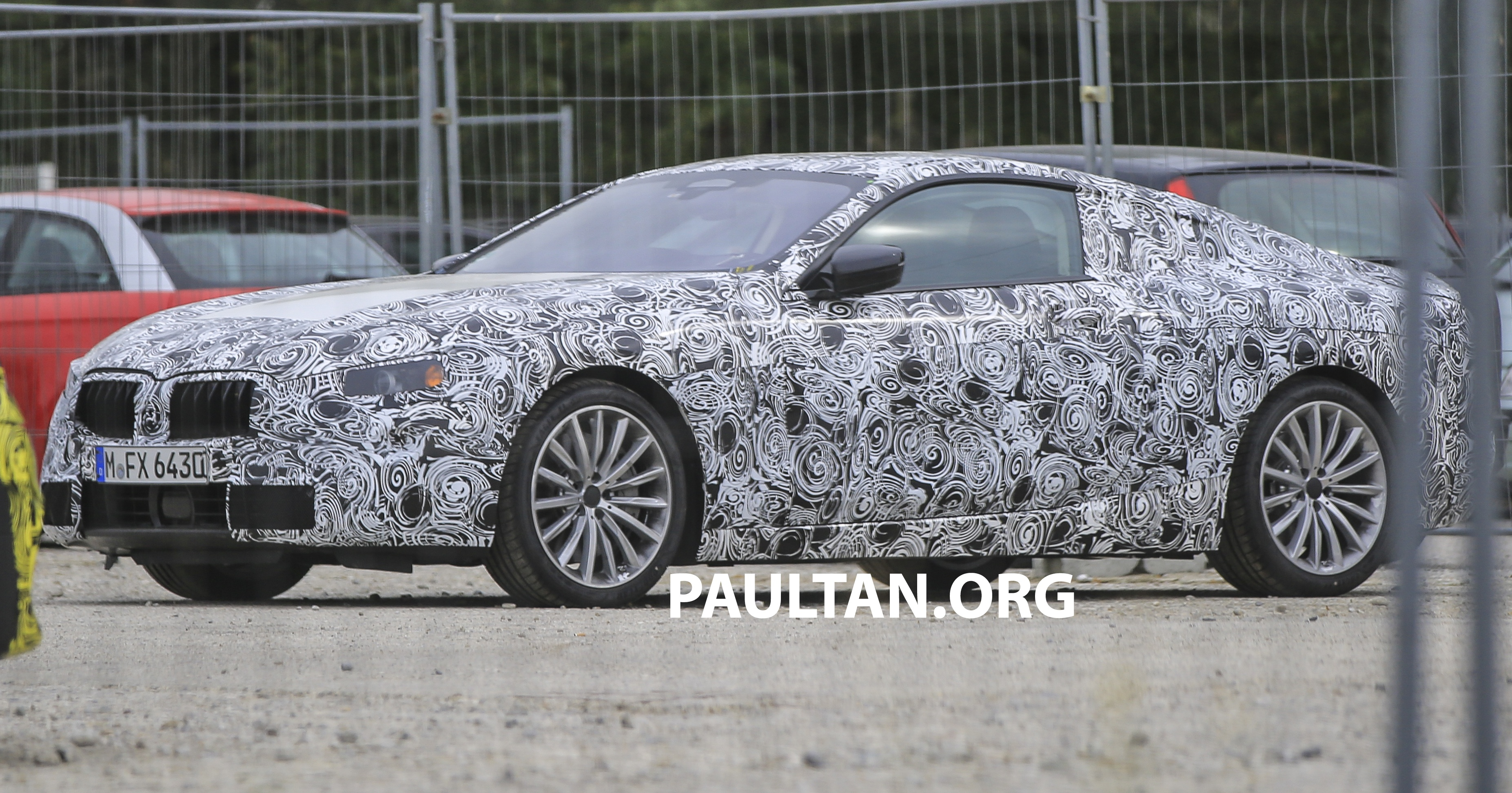 spyshots new bmw 8 series seen for the first time. Black Bedroom Furniture Sets. Home Design Ideas