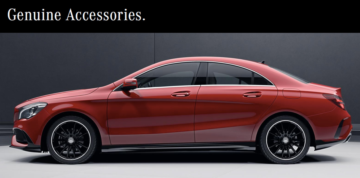 mercedes cla facelift amg accessories now in m 39 sia. Black Bedroom Furniture Sets. Home Design Ideas