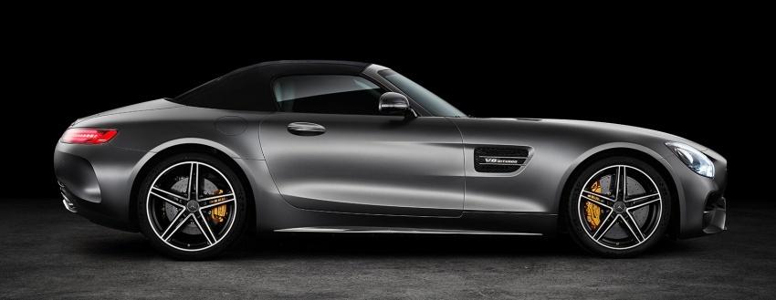 Mercedes-AMG GT C Roadster – punya kuasa 557hp, 680Nm tork dan kelengkapan prestasi daripada GT R Image #549319