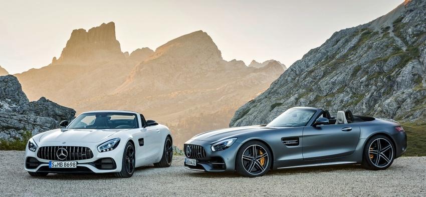 Mercedes-AMG GT C Roadster – punya kuasa 557hp, 680Nm tork dan kelengkapan prestasi daripada GT R Image #549324