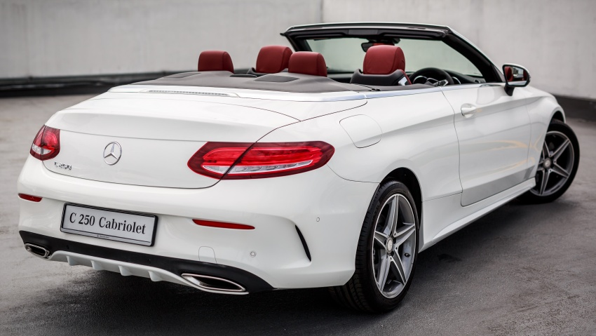 mercedesbenz cclass cabriolet launched in malaysia