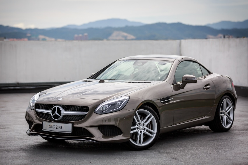 mercedes benz slc launched in malaysia slc200 at rm398 888 slc300 amg line at rm468 888 image. Black Bedroom Furniture Sets. Home Design Ideas