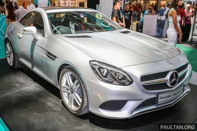 mercedes benz slc 200 previewed in malaysia. Black Bedroom Furniture Sets. Home Design Ideas