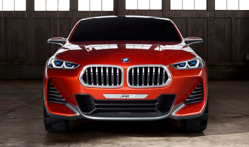 BMW Concept X2 unveiled in Paris – it's the 'X1 Coupe' Image #556994