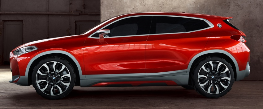 BMW Concept X2 unveiled in Paris – it's the 'X1 Coupe' Image #557000