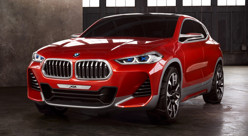 BMW Concept X2 unveiled in Paris – it's the 'X1 Coupe' Image #557002