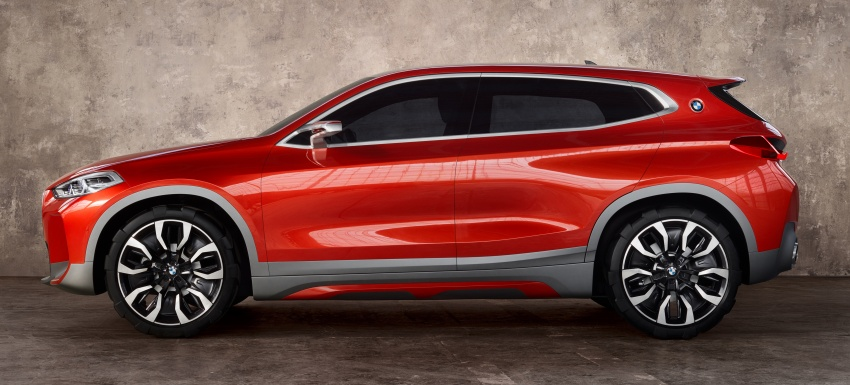 BMW Concept X2 unveiled in Paris – it's the 'X1 Coupe' Image #557004