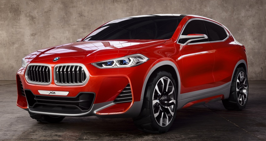 BMW Concept X2 unveiled in Paris – it's the 'X1 Coupe' Image #557008