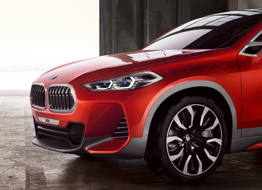 BMW Concept X2 unveiled in Paris – it's the 'X1 Coupe' Image #557010