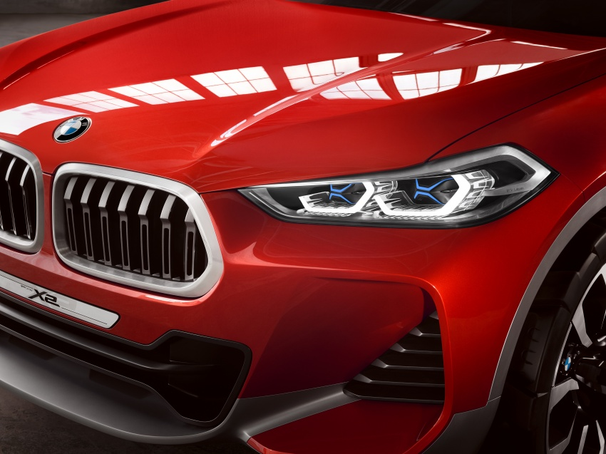 BMW Concept X2 unveiled in Paris – it's the 'X1 Coupe' Image #557012