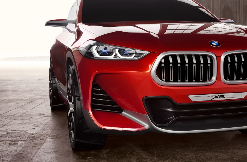 BMW Concept X2 unveiled in Paris – it's the 'X1 Coupe' Image #557014