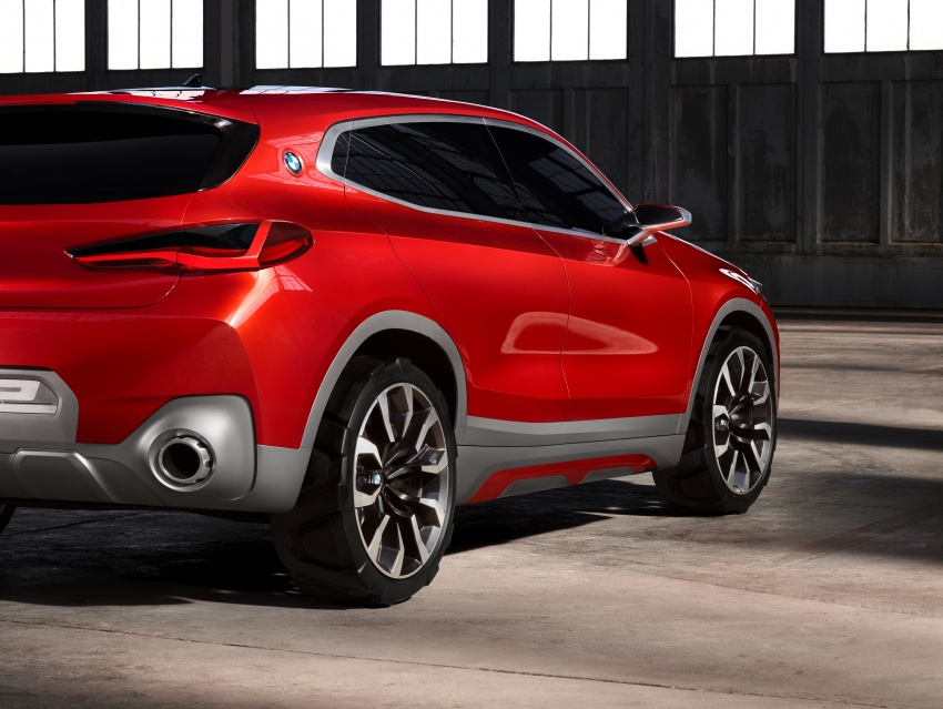 BMW Concept X2 unveiled in Paris – it's the 'X1 Coupe' Image #557016