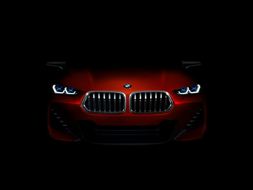 BMW Concept X2 unveiled in Paris – it's the 'X1 Coupe' Image #557020