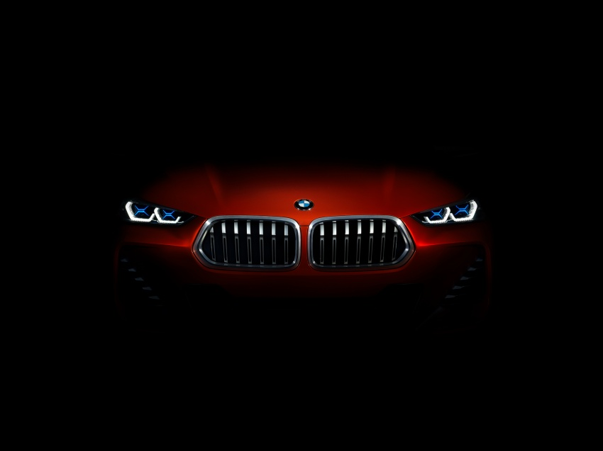 BMW Concept X2 unveiled in Paris – it's the 'X1 Coupe' Image #557022